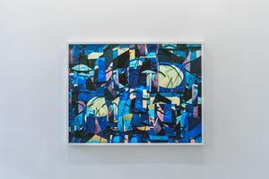 Surfaces: Blue mess by Vik Muniz contemporary artwork