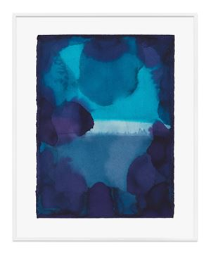 Untitled (Cobalt blue turquoise) by Jason Martin contemporary artwork