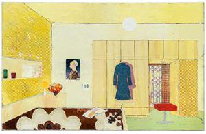 Flat 2 by Matthias Weischer contemporary artwork