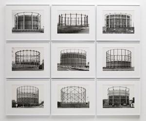 Gas Tanks by Bernd & Hilla Becher contemporary artwork