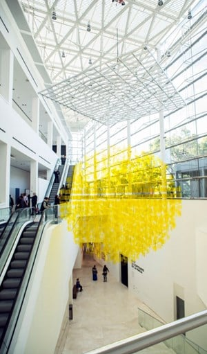 Sphère jaune by Julio Le Parc contemporary artwork