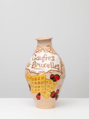 Gaufres de bruxelles waffles by Jake Clark contemporary artwork