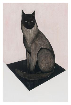 Cat/rose by Iris Schomaker contemporary artwork
