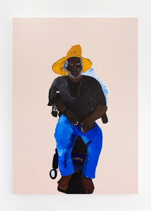 Emory: shoulda been a phd but society made him homeless by Henry Taylor contemporary artwork