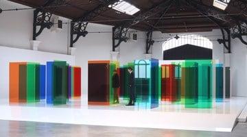 Contemporary art exhibition, Carlos Cruz-Diez, Labyrinthus at La Patinoire Royale – galerie Valérie Bach, Brussels, Belgium