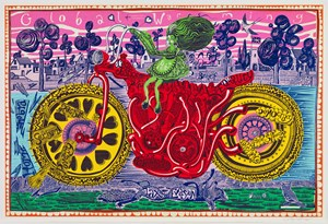 Selfie with Political Causes by Grayson Perry contemporary artwork
