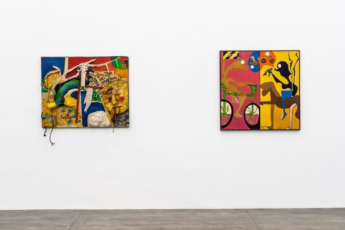 Exhibition view: Sérgio Sister, Images of a Pop Youth – Political Paintings and Prison Drawings, Galeria Nara Roesler, São Paulo (10 August–5 October 2019). Courtesy Galeria Nara Roesler.