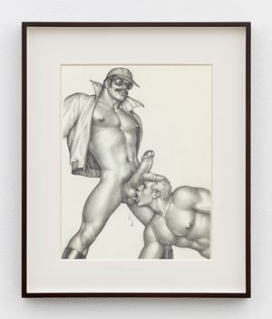 """Untitled (Cover for Kake Vol. 15 - """"Violent Visitor"""") by Tom of Finland contemporary artwork"""