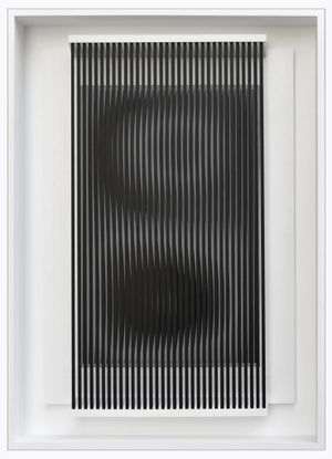 Dinamica carbone by Alberto Biasi contemporary artwork