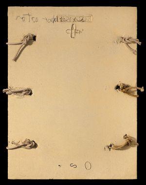 Matèria amb cordes by Antoni Tàpies contemporary artwork