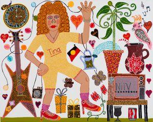 Tina Time by Kaylene Whiskey contemporary artwork