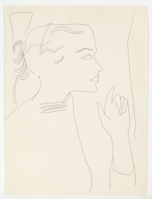 Unidentified Female by Andy Warhol contemporary artwork