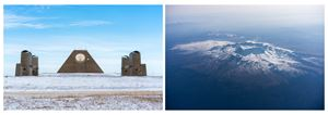 Sentry post on the China-North Korea border, close to a suspected North Korean missile base (left) /  Minuteman II Missile, Delta 09 silo, South Dakota (right), from Most People Were Silent by Sim Chi Yin contemporary artwork