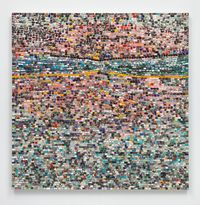 Quantum Wall, VIII (For Arshile Gorky, My First Love In Painting) by Jack Whitten contemporary artwork painting