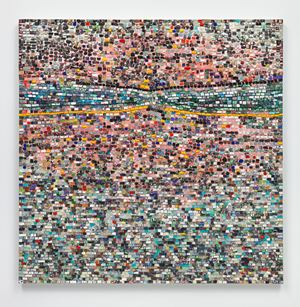 Quantum Wall, VIII (For Arshile Gorky, My First Love In Painting) by Jack Whitten contemporary artwork
