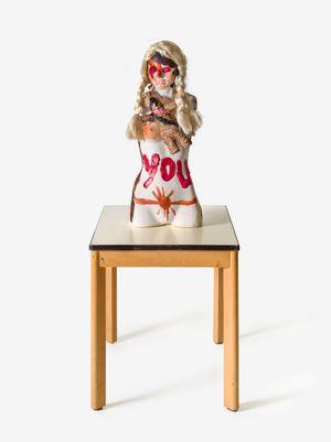 DER BLONDANDADDY ENGEL IM NETZ! (DR. SPIRITUSSILL) by Jonathan Meese contemporary artwork