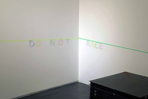 DO N O T RACE by Christopher K. Ho contemporary artwork installation