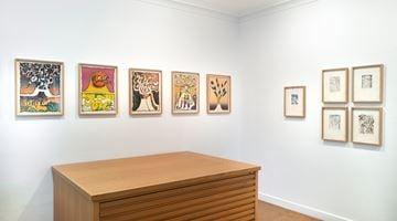 Contemporary art exhibition, Pierre Alechinsky, Prints from the 1960s and the 1970s at Galerie Lelong & Co. Paris, 13 Rue de Téhéran, Paris, France