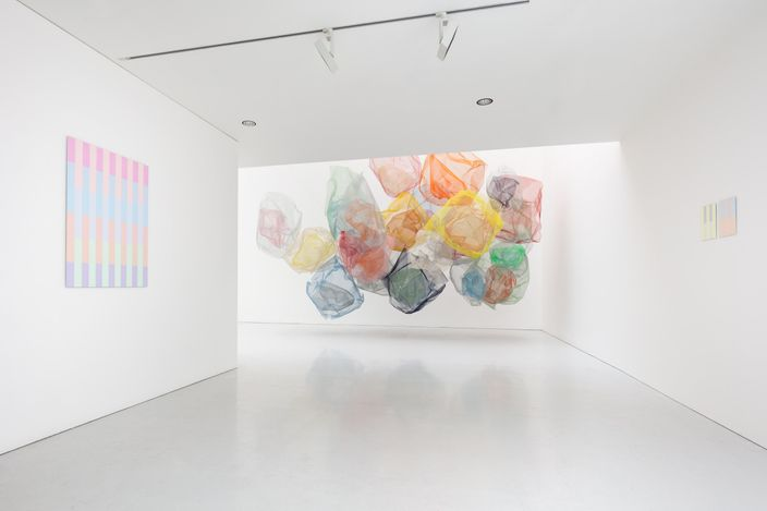 Exhibition view: Rana Begum, Kate MacGarry, London (30 April–6 June 2021). Copyright The Artist. Courtesy the artist and Kate MacGarry, London. Photo: Angus Mill.