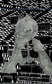 I Owe You a Dark (from the series: Farewelling Junkyard) by Tamara K. E. contemporary artwork mixed media