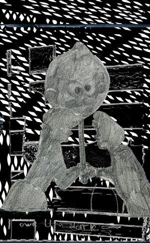 I Owe You a Dark (from the series: Farewelling Junkyard) by Tamara K. E. contemporary artwork