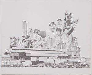 "Study for ""Factory Feast"" by Jim Shaw contemporary artwork"
