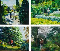 Jobs, Spring / Summer / Autumn / Winter by Caroline Walker contemporary artwork painting