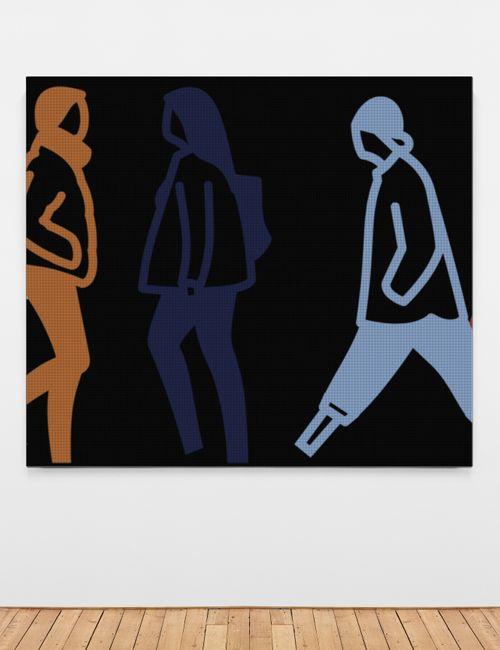Nighttime 3. by Julian Opie contemporary artwork