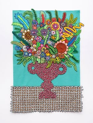 Pink Eyes by Jody Paulsen contemporary artwork