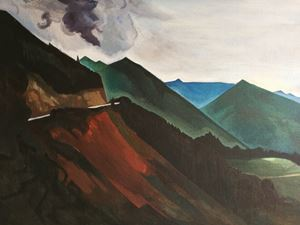 Highway in the Mountain by Xiao Jiang contemporary artwork