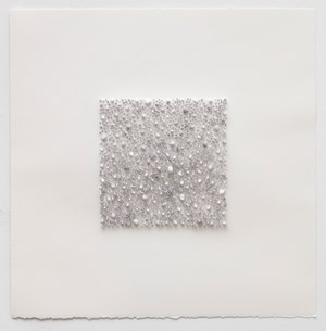 Grey square 02 (Red Rose) by Lars Christensen contemporary artwork