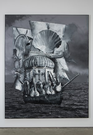 Ghost Ship by Marcus Harvey contemporary artwork mixed media
