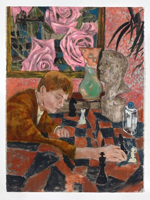 The accidental chess game by Hernan Bas contemporary artwork