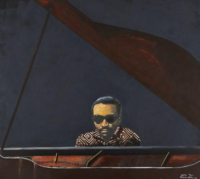 Cecil Taylor by Sam Nhlengethwa contemporary artwork