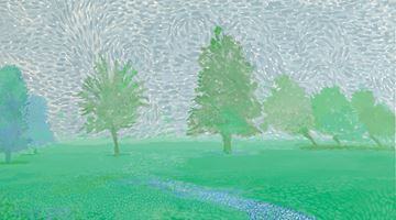Contemporary art exhibition, David Hockney, Ma Normandie at Galerie Lelong & Co. Paris, 13 Rue de Téhéran, Paris