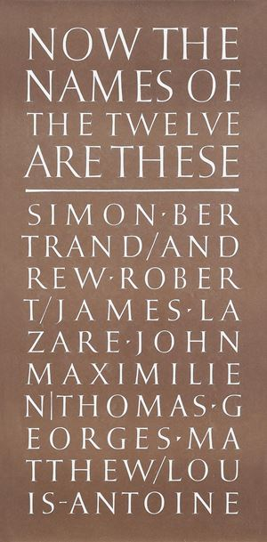 Now the Names of the Twelve(with John R. Nash) by Ian Hamilton Finlay contemporary artwork