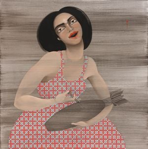 Lethal injection by Hayv Kahraman contemporary artwork