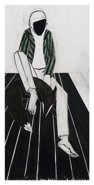 Untitled (striped jacket) by Iris Schomaker contemporary artwork