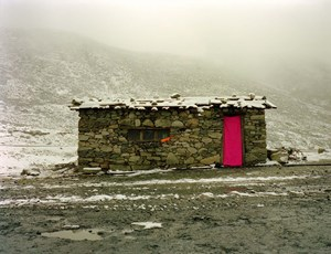 The Flowing Rainbow No.8, Cabin on Sichuan-Tibet Road by Xiong Wenyun contemporary artwork