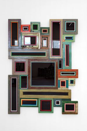 Usefulness of Uselessness – Black Window No. 02 by Song Dong contemporary artwork sculpture