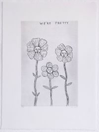 We're Pretty by David Shrigley contemporary artwork painting, print