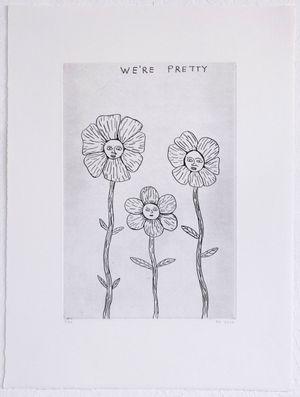We're Pretty by David Shrigley contemporary artwork
