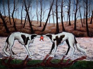 Purple Line by Bree Jonson contemporary artwork