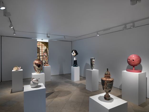 Exhibition view: Group Exhibition, Christian Holstad, Grayson Perry, Tal R, Betty Woodman, Victoria Miro, Venice (26 January–18 April 2019). Courtesy the artist and Victoria Miro, London/Venice.