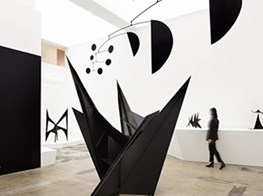Calder's black steel meets the white cube at a new exhibition at Hauser & Wirth