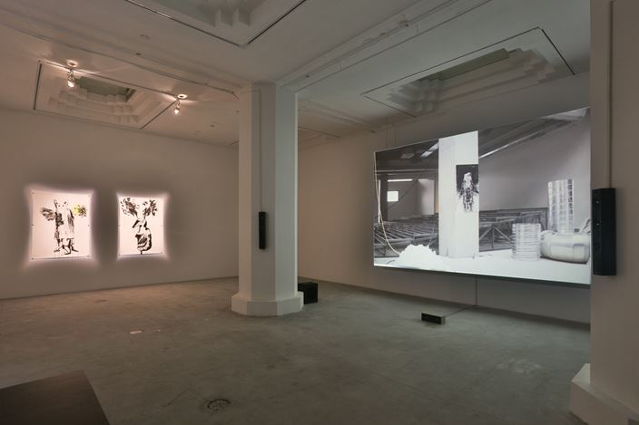 Inci Eviner, LOOPING ON THIN ICE, 2016,Exhibition view, Pearl Lam Galleries, Shanghai. Courtesy Pearl Lam Galleries, Shanghai.