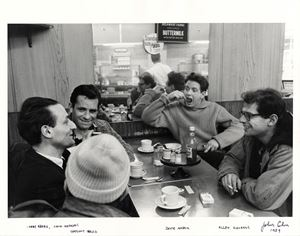 Larry Rivers, Jack Kerouac, Gregory Corso, David Amram, Allen Ginsberg by John Cohen contemporary artwork