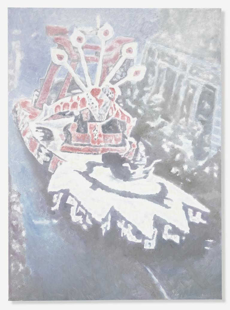 Image: Luc Tuymans, Corso I, 2015. Oil on canvas, 98 3/4 x 72 5/8 inches (250.8 x 184.5 cm). Courtesy David Zwirner, New York/London.