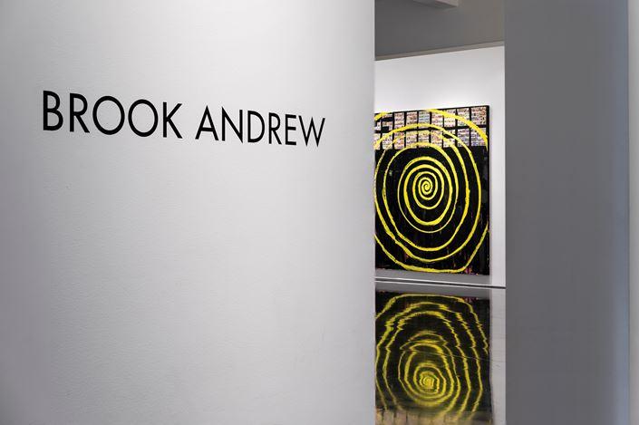 Exhibition view: Brook Andrew, La Razza: Quiet Noise,Tolarno Galleries, Melbourne (16 February–16 March 2019). Courtesy Tolarno Galleries.
