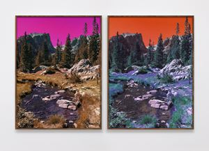 Dream Lake Trail (PC, M, Y, B, G, PM, LG, C) (PM, Y, C, B, G, M , LG, PC) by Evan Trine contemporary artwork